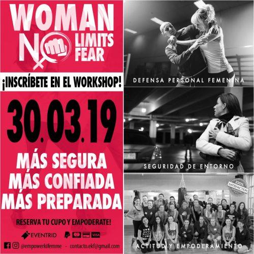 WORKSHOP » WOMEN NO LIMITS » 30 – 03 -2019
